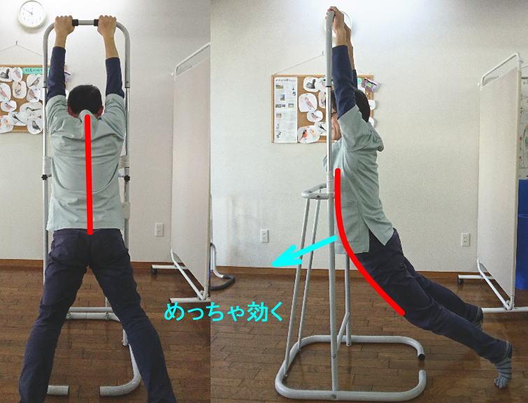 背骨の伸展ストレッチ