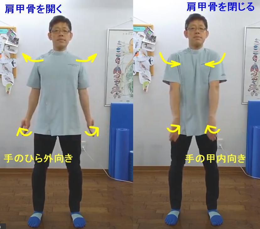 巻き肩矯正エクササイズ1